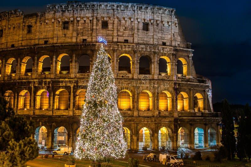 Colisé de Rome, Italie sur Noël photo stock