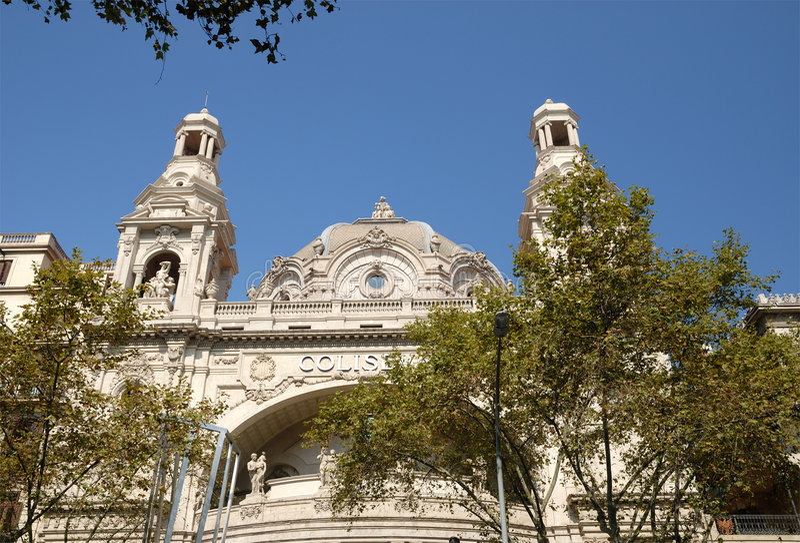 Colisé Espagne de Barcelone images libres de droits