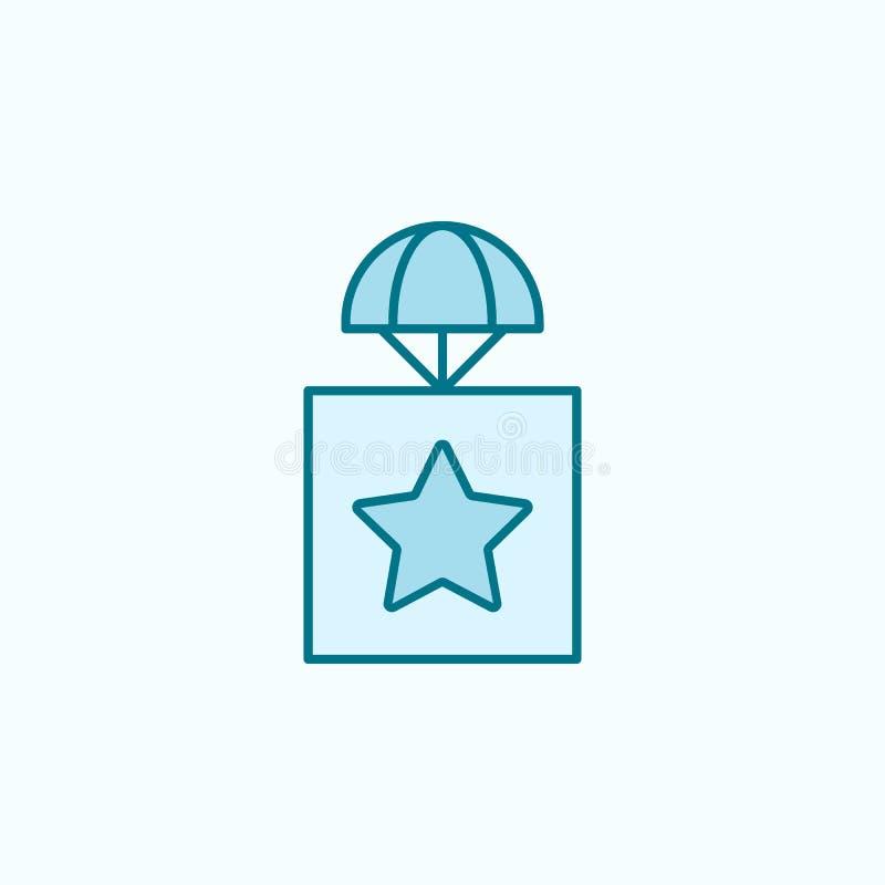 colis avec une icône d'ensemble de champ d'astérisque illustration libre de droits