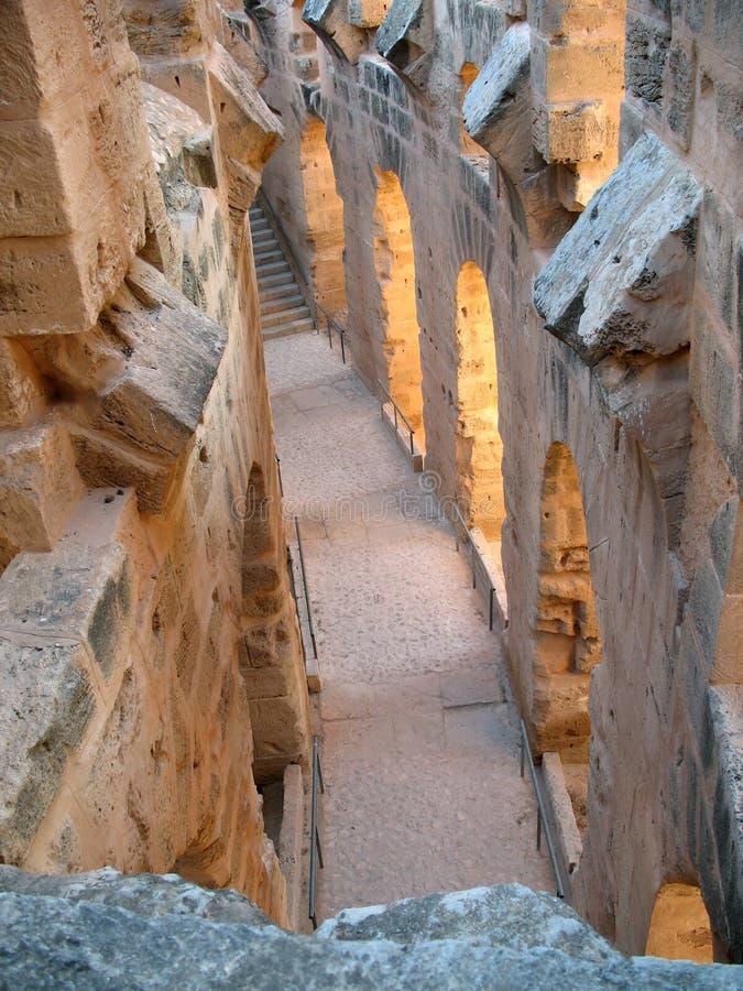 Coliseo de Túnez foto de archivo libre de regalías