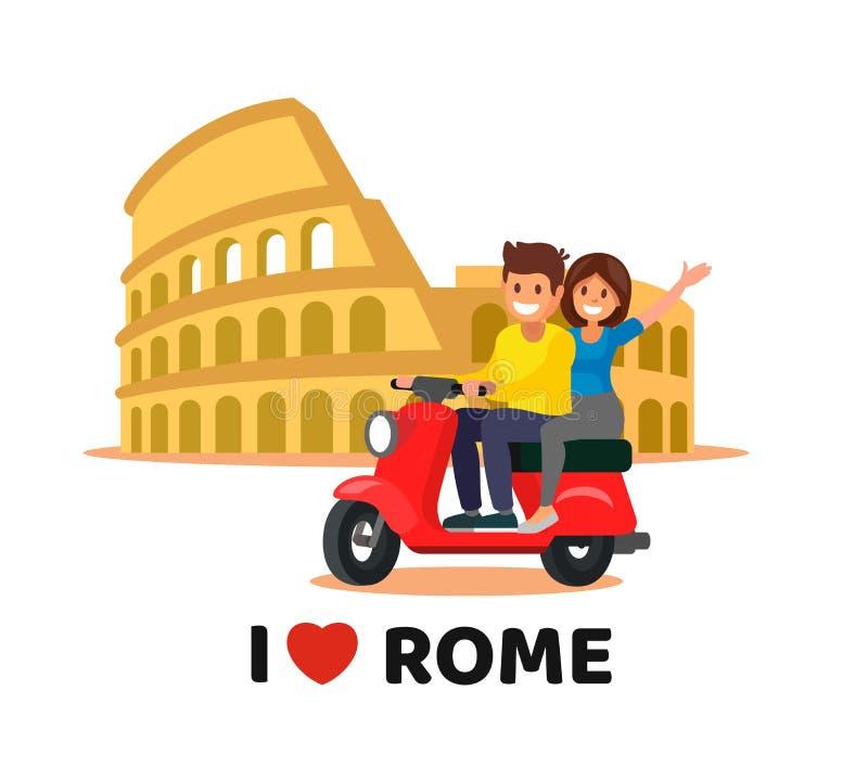 Coliseo en Italia stock de ilustración