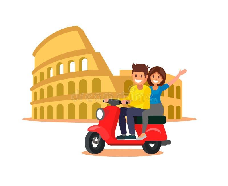 Coliseo en Italia ilustración del vector