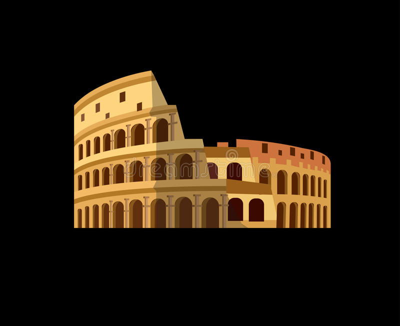 Coliseo en Roma, Italia Colosseum stock de ilustración