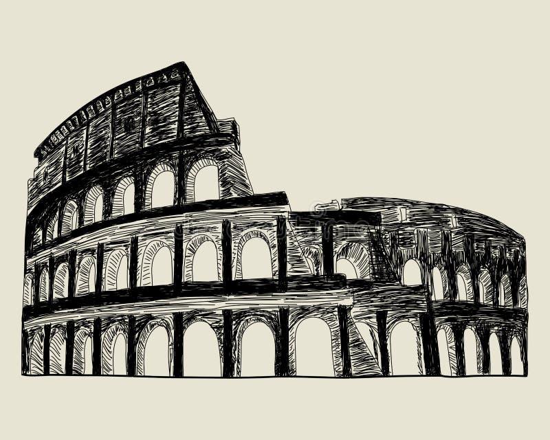Coliseo romano. ilustración del vector