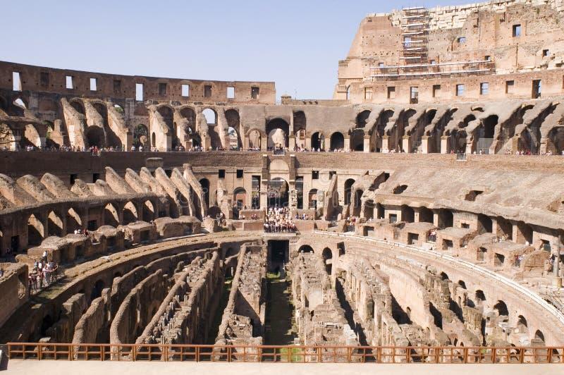 Coliseu da arena em Roma Italy fotografia de stock royalty free