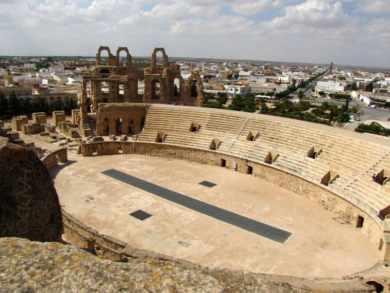 Coliseu em Tunísia imagem de stock royalty free