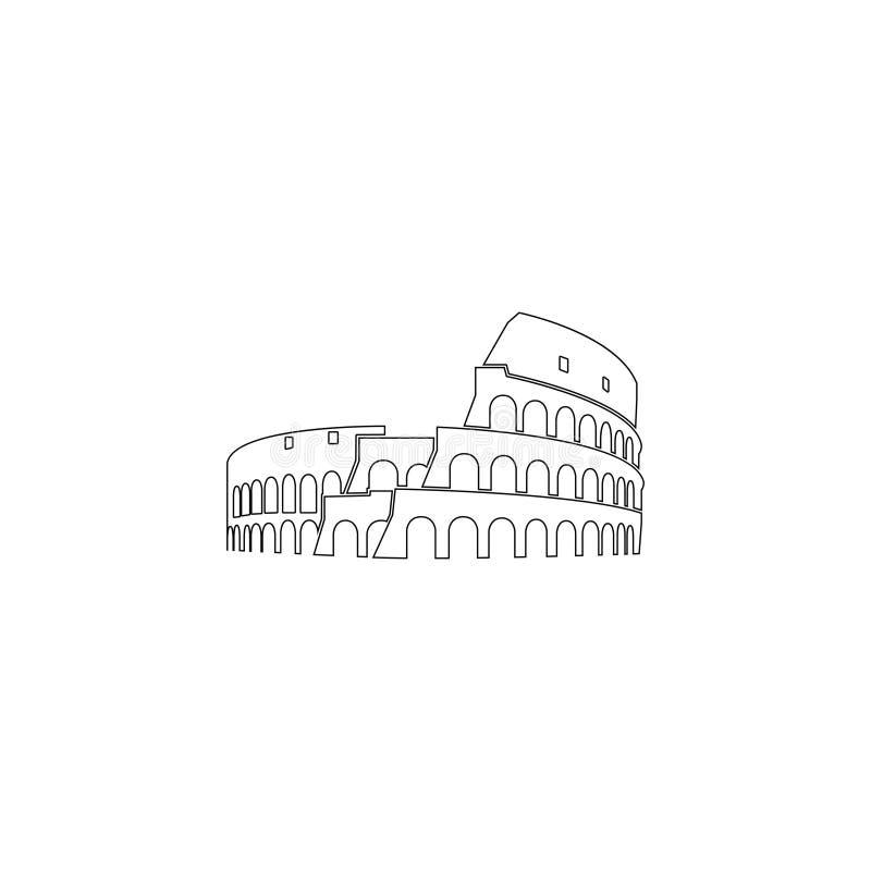 Coliseum στη Ρώμη επίπεδο διανυσματικό εικονίδιο διανυσματική απεικόνιση