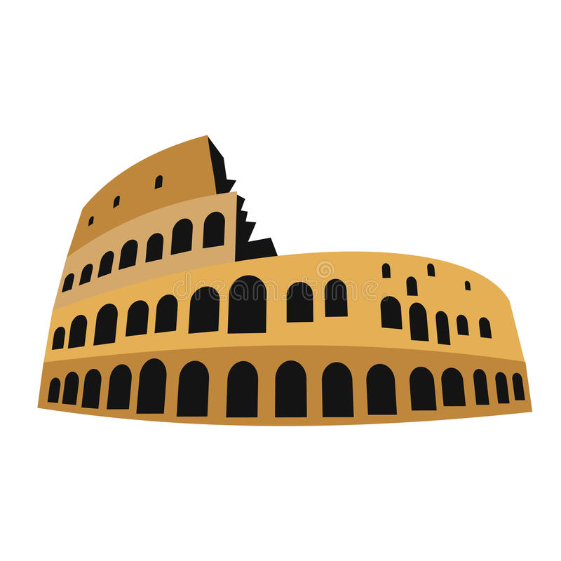 Coliseum στο επίπεδο απεικόνιση αποθεμάτων