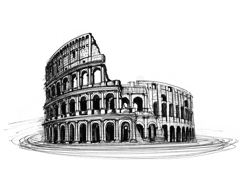 Coliseum vector illustratie