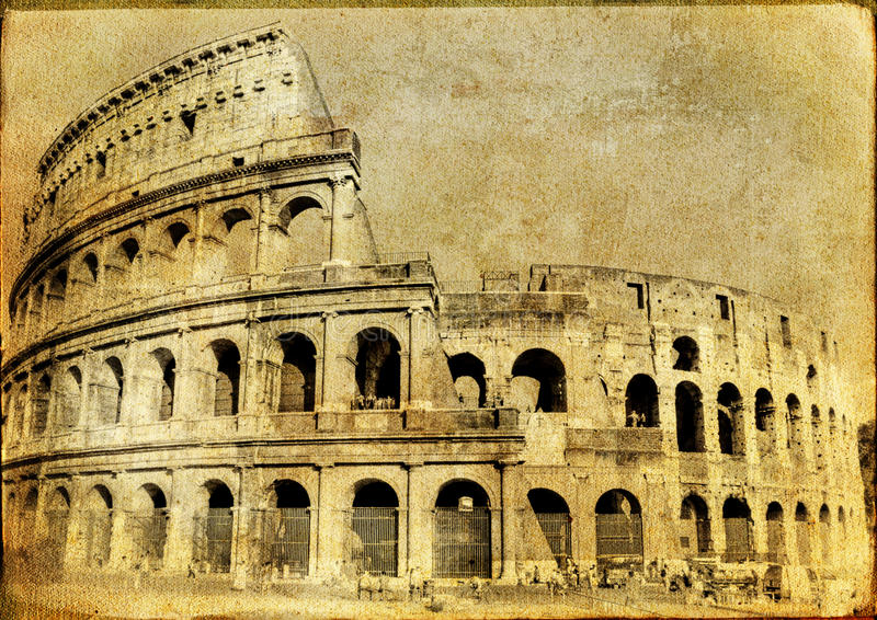 Download Coliseum stock illustration. Image of journey, past, italy - 12720918