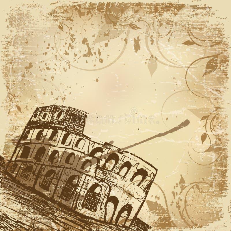 coliseum ilustração royalty free