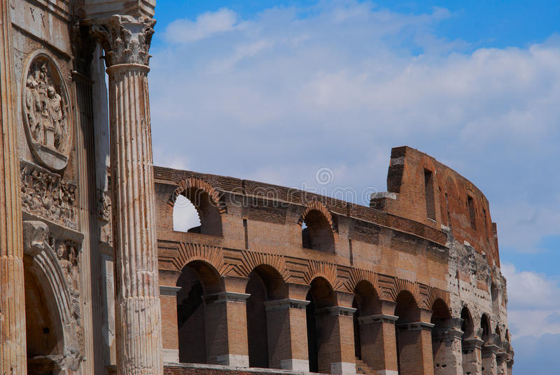 Coliseum amphitheatre in Rome Italië stock afbeelding