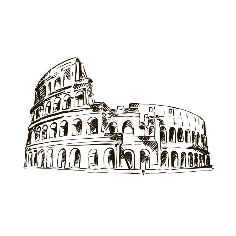 coliseum Atrações de Itália ilustração royalty free