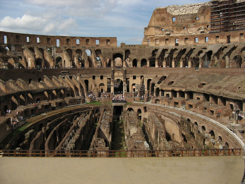 Coliseum Colosseum in Rome stock afbeeldingen
