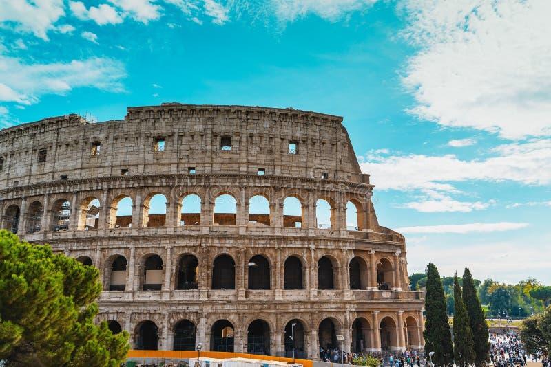 Coliseum eller Flavian Amphitheater eller Colosseo eller Colosseum, Rom, Italien royaltyfria bilder