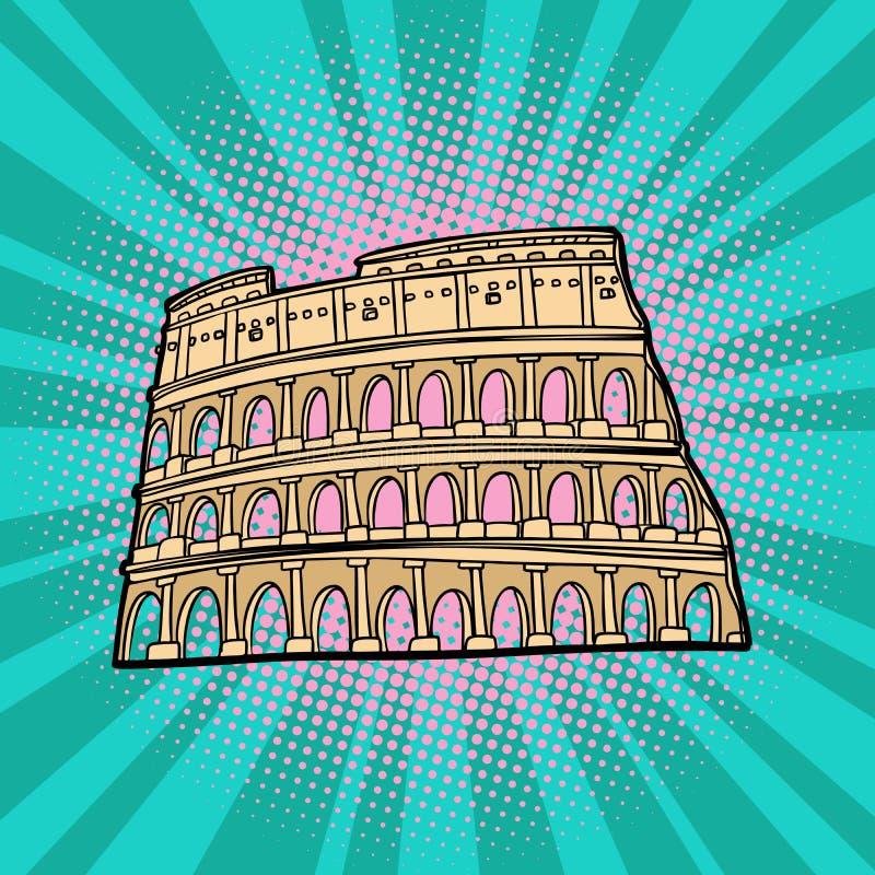 coliseum Fórum romano do Th Turismo e curso ilustração stock