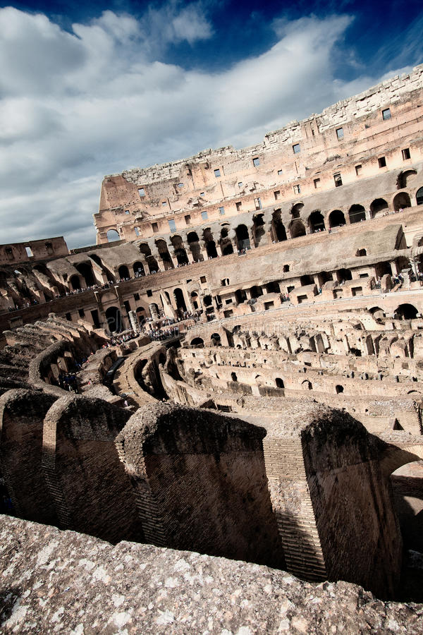 Coliseum From The Inside Royalty Free Stock Image
