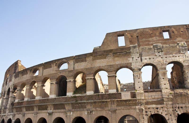 Coliseum met Historische Plaque royalty-vrije stock foto's