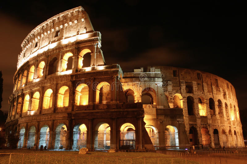 Download Coliseum by night stock photo. Image of high, rocks, emperor - 10585696