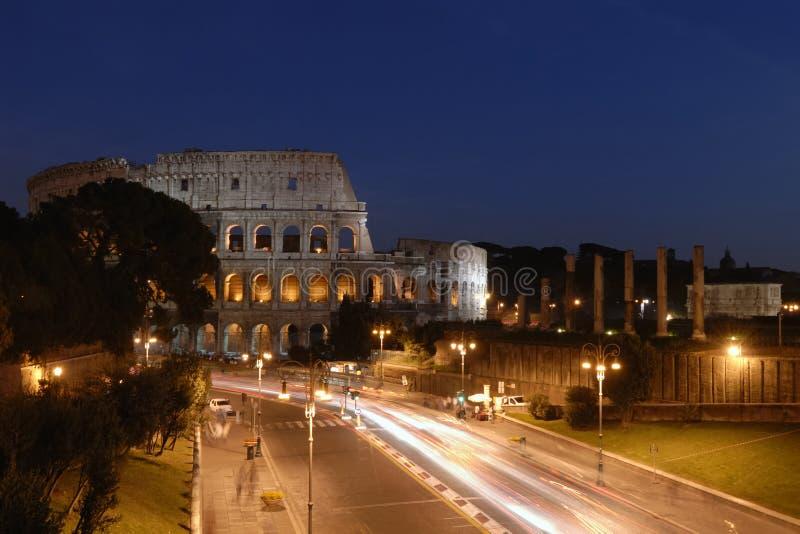 Coliseum night royalty free stock photography