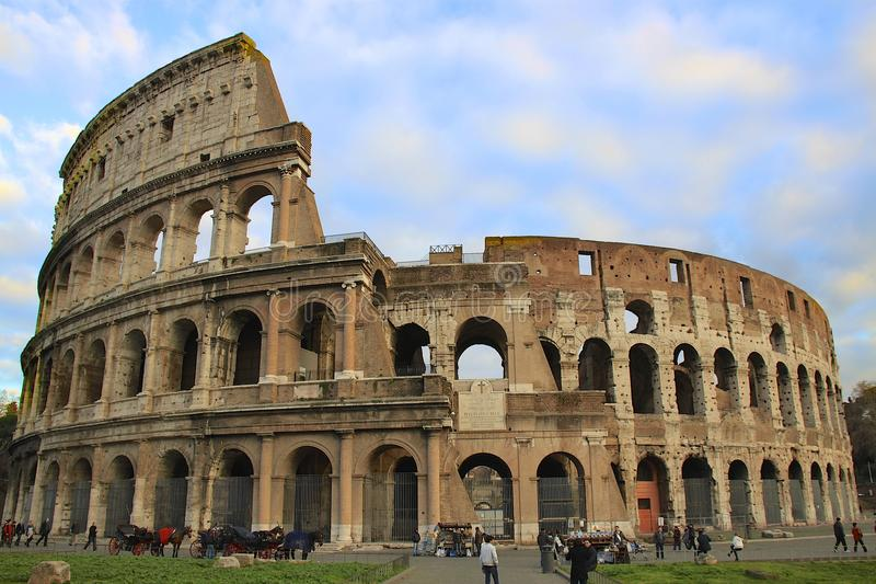 Coliseum in Roma, Italy. Coliseum in town of Roma, Italy royalty free stock images