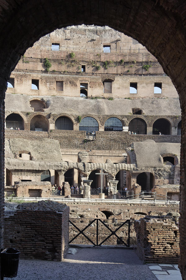 Download Coliseum Rome stock photo. Image of galleries, historical - 12484816