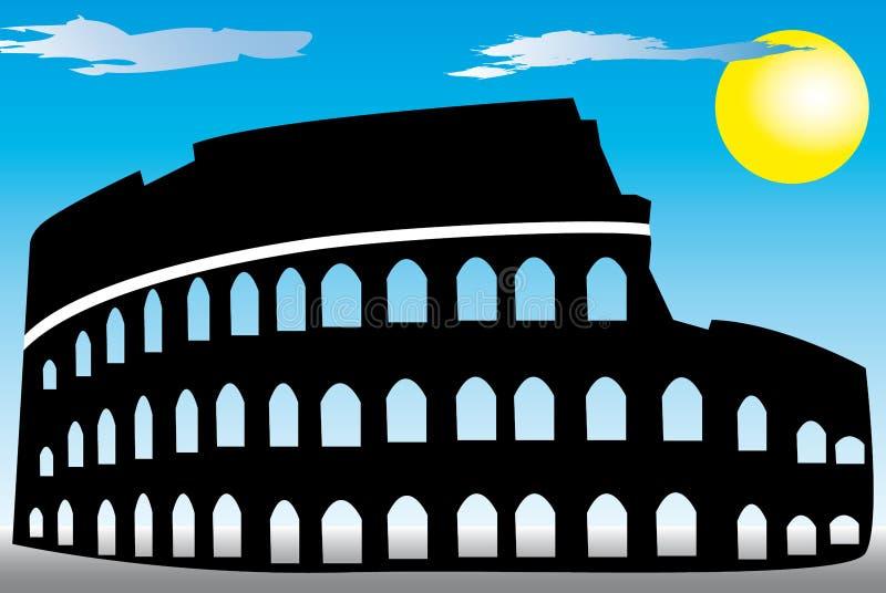 coliseum rome vektor illustrationer