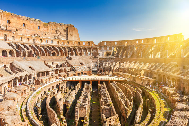Coliseum in Rome stock photos
