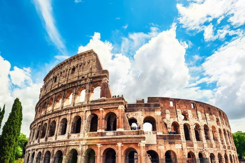 Coliseum in Rome, Italië Beroemd toeristenoriëntatiepunt royalty-vrije stock afbeeldingen