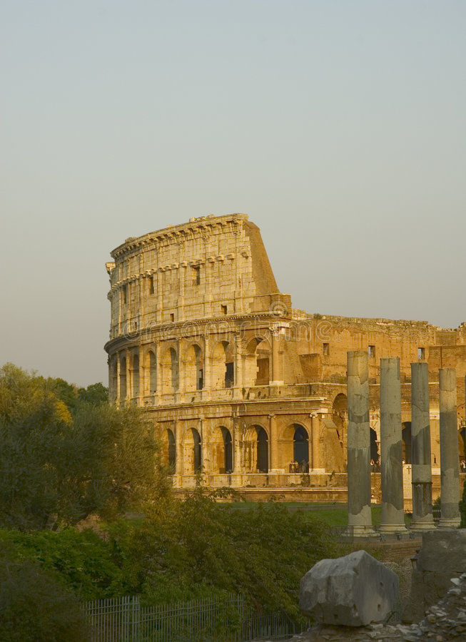 Coliseum At Sunset Royalty Free Stock Photography