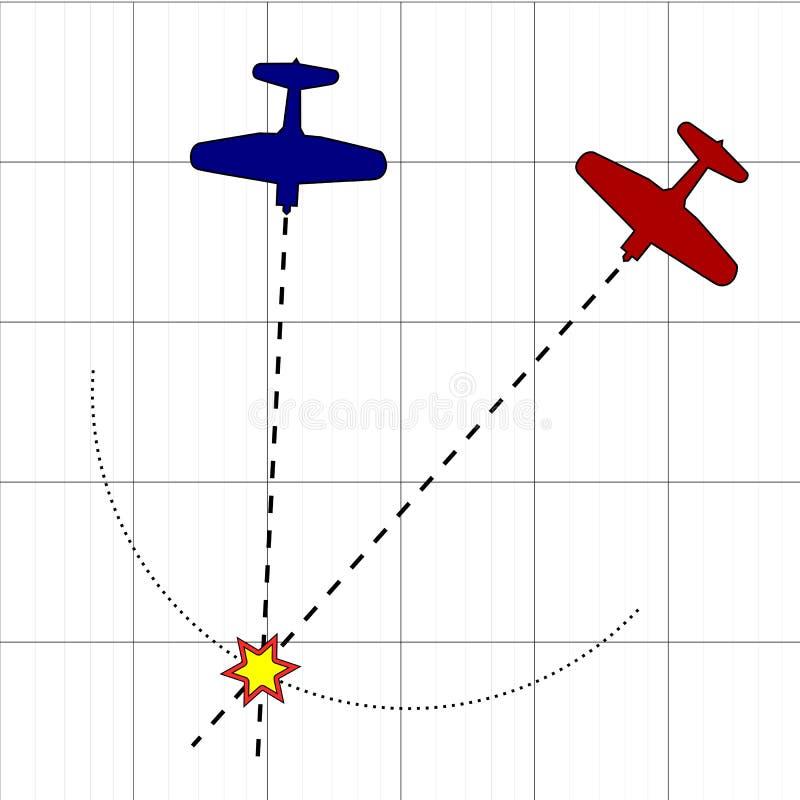 Colisión ilustración del vector