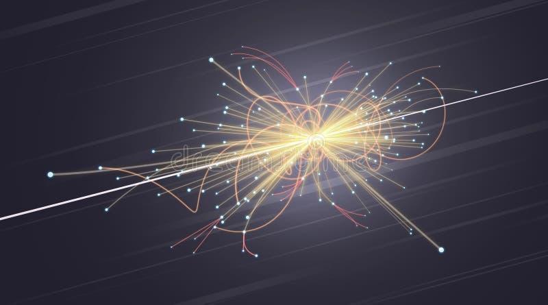 Colisión de la partícula en LHC (Collider grande del Hadron) libre illustration