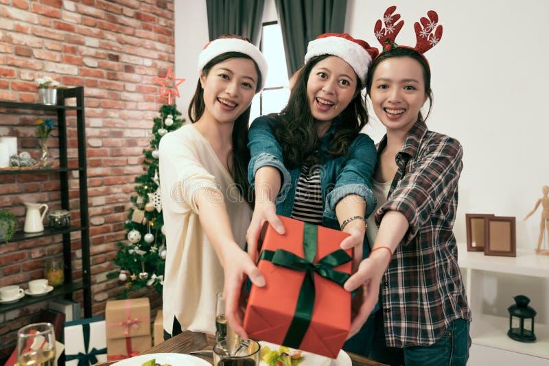 Collègue recueilli ensemble pour le dîner de Noël image libre de droits