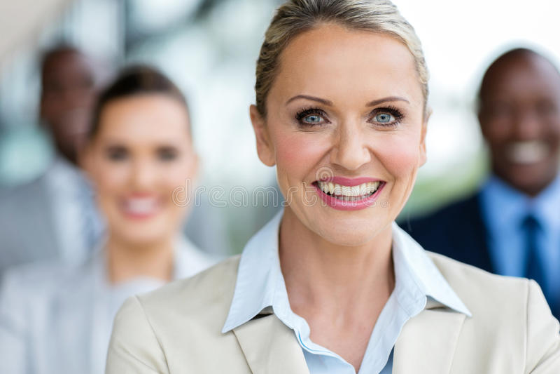 Collègues mûres de femme d'affaires photo libre de droits