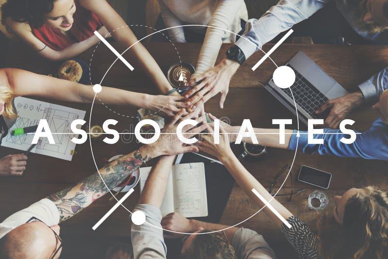 Collègues Team People Concept d'associés de collègues photographie stock