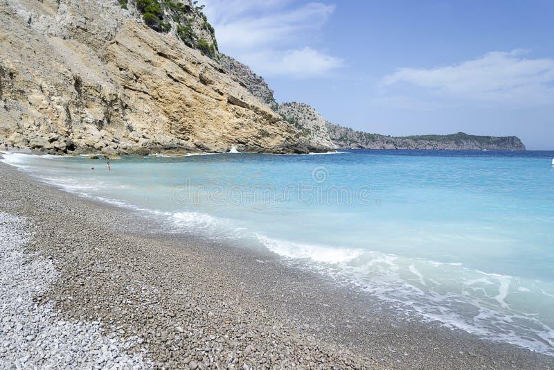Coll Baix-strand in Mallorca stock afbeeldingen