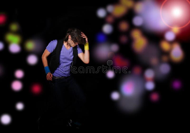 Coll przyglądający tancerza target178_0_ fotografia stock
