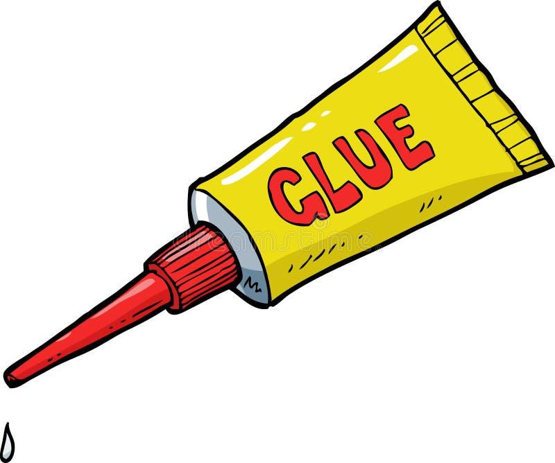 Colla gialla del tubo illustrazione di stock