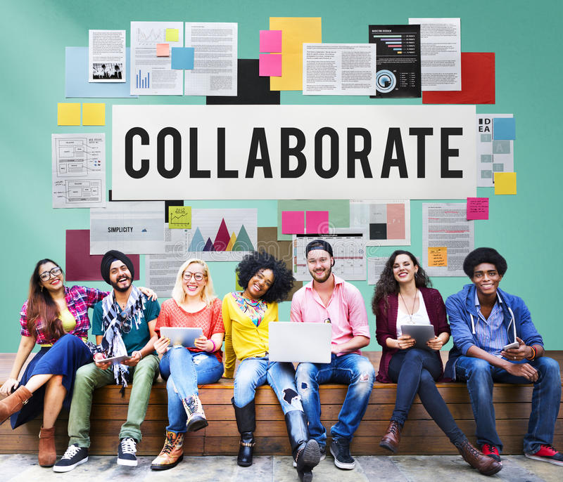 Collaborate Agreement Cooperation Partners Concept royalty free stock photos
