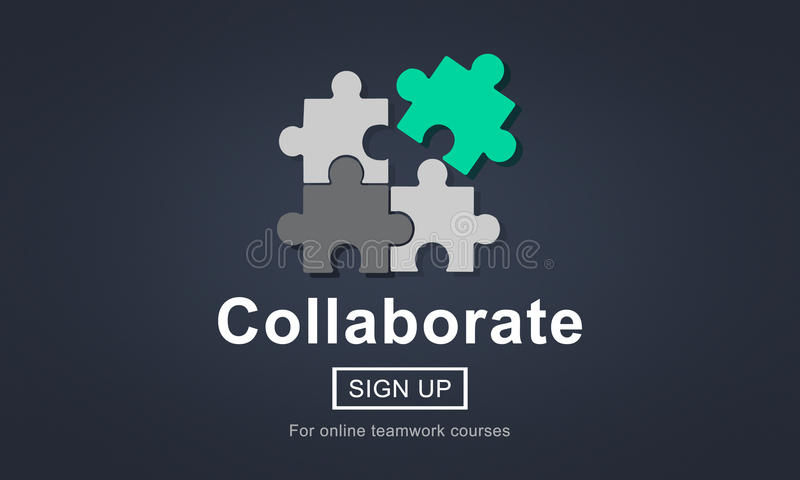Collaborate Join Partnership Support Togetherness Concept vector illustration