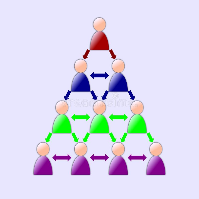 Collaboration Tree stock illustration