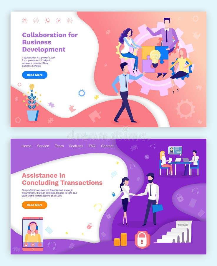 Collaboration Business Development, Assistance stock illustration