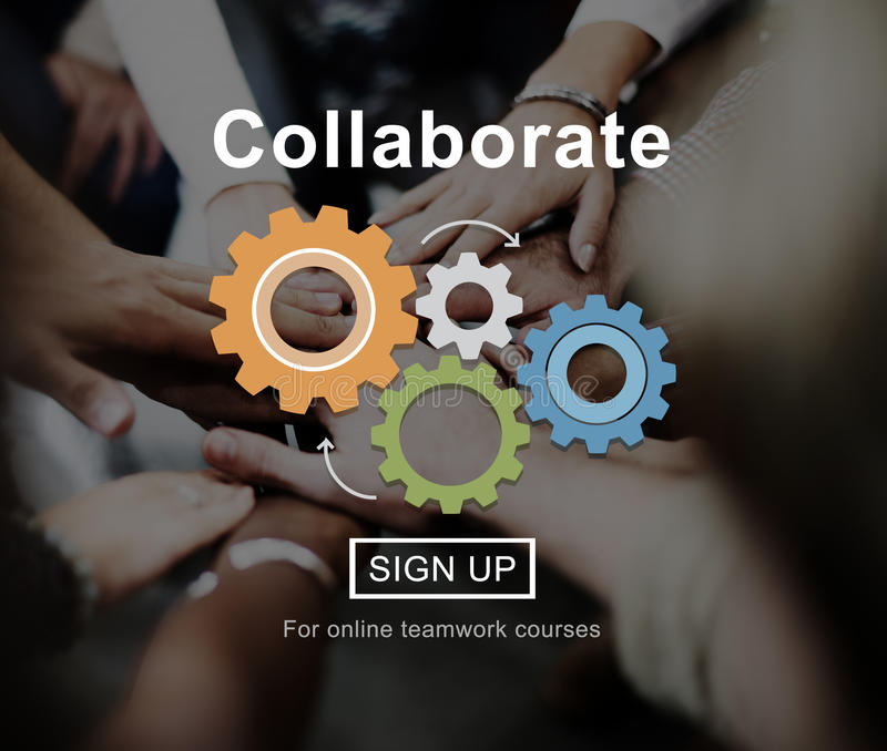 Collaboration Collaborate Connection Corporate Concept stock photography