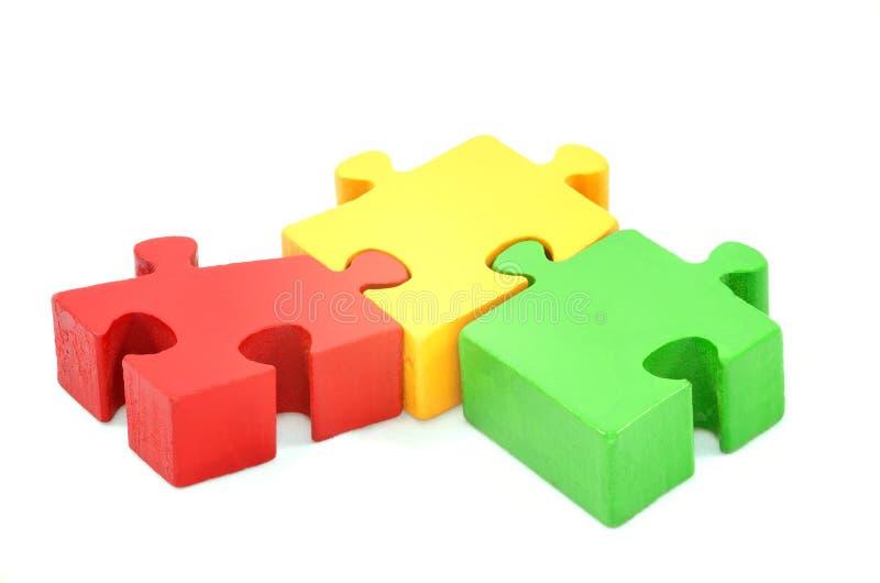 Collaboration concept Turkish isbirligi jigsaw puzzle over white stock image