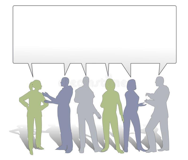 Collaboration d'équipe partageant des idées illustration stock