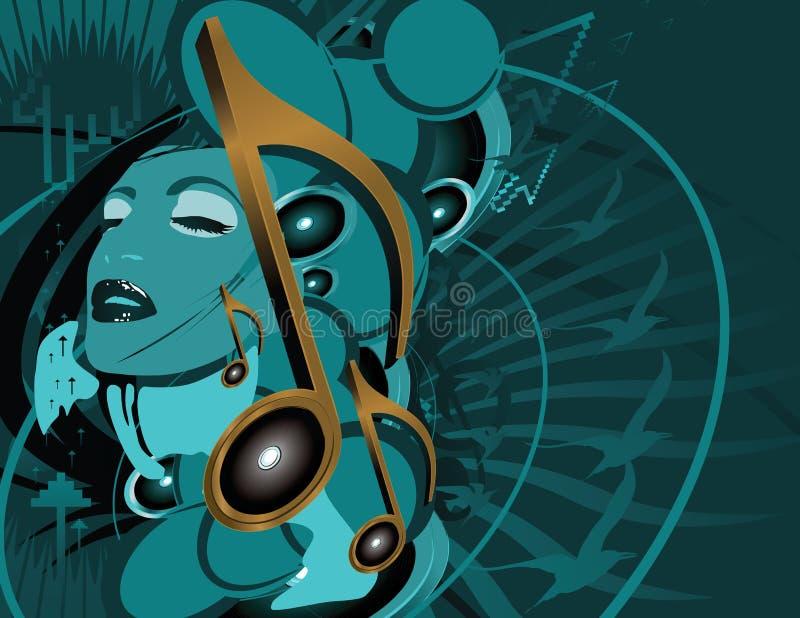 Collaboration de musique illustration de vecteur
