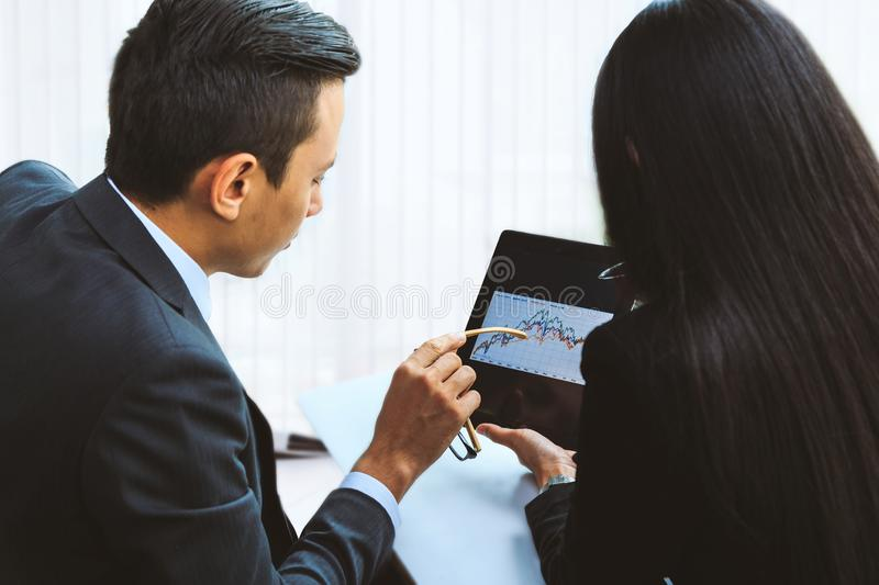 male and female businessmen. royalty free stock photography