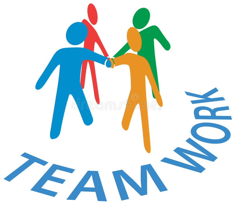 Collaboration people join hands Teamwork vector illustration