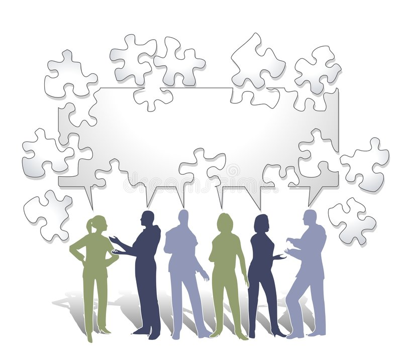 Collaboration Puzzle stock illustration