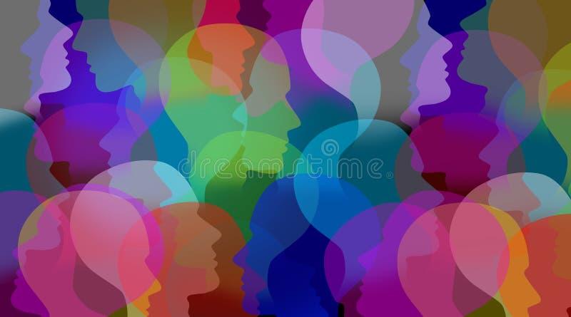 Collaboration sociale illustration de vecteur